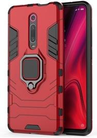 Hurtel Ring Armor Back Case For Xiaomi Mi 9T/9T Pro Red