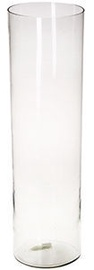 Verners Cylindrical Vase 20x70cm Transparent
