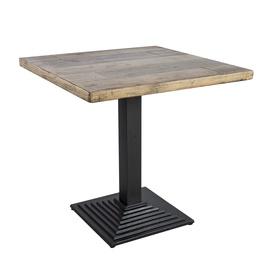 Dārza galds Home4you Raft Faded Tree/Black, 75 x 75 x 74.5 cm