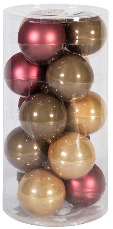 Ziemassvētku eglītes rotaļlieta Home4you Mixed Colors, 80 mm, 15 gab.