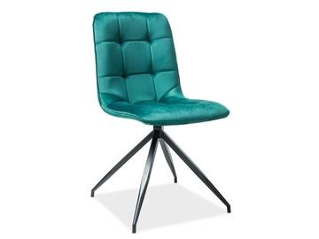 Ēdamistabas krēsls Signal Meble Texo Velvet Green, 1 gab.