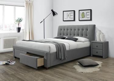 Кровать Halmar Percy Grey, 220x173 см, с решеткой