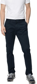 Audimas Tapered Fit Cotton Chino Pants Navy Blue 184/50