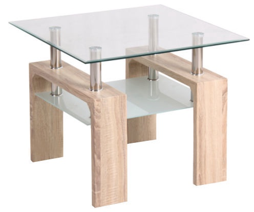 Kafijas galdiņš Signal Meble Lisa D Sonoma Oak, 600x600x550 mm