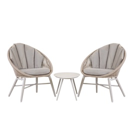 Home4you Shelly Balcony Furniture Set Grey