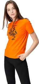 Audimas Womens Short Sleeve Tee Orange Printed XS