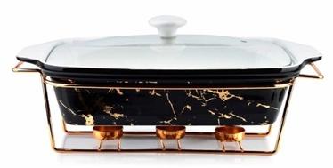 Mondex Elegant Kitchen Dish With Heater Black Marble 3l