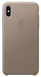 Apple Leather Back Case For Apple iPhone XS Max Taupe