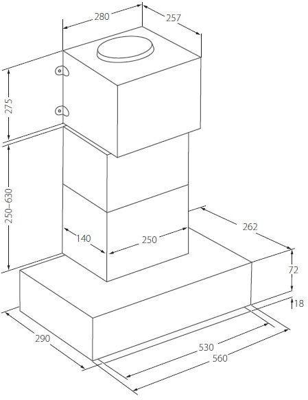 Встроенная вытяжка Akpo WK-10 Neva Glass