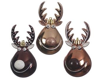 Ziemassvētku eglītes rotaļlieta Decoris 027508 Gold/Brown, 1 gab.
