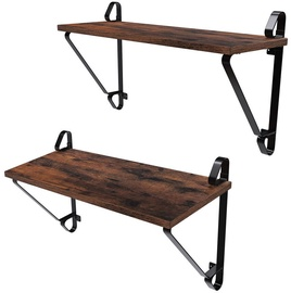 Songmics Storage Rack Brown/Black 2pcs