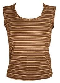 Bars Womens Shirt Brown 89 XL