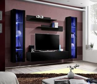 Dzīvojamās istabas mēbeļu komplekts ASM Fly A2 Black