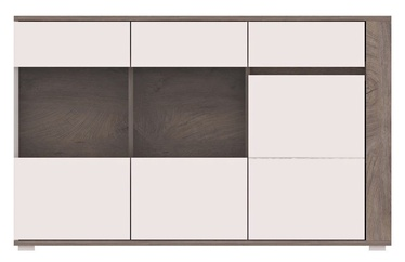 Kumode WIPMEB Ares AS5 Oak/White High Gloss, 150x40x85 cm