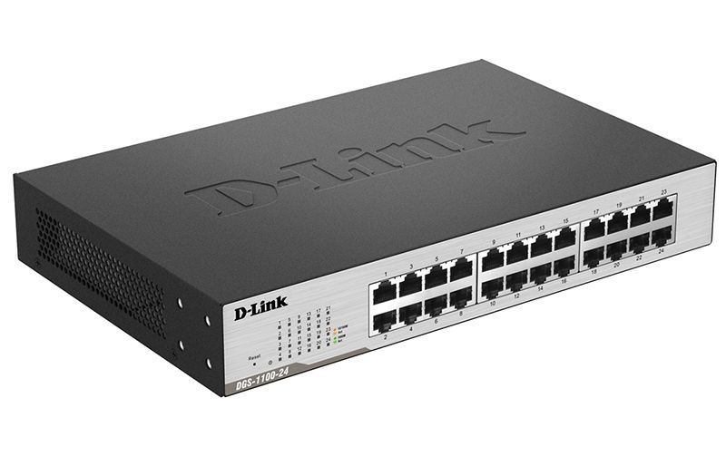 D-Link DGS-1100-24 Managed Rack-Mounted