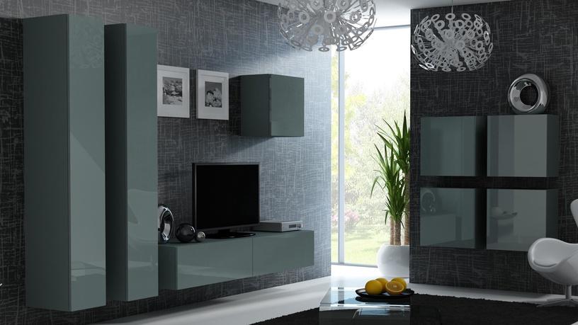 Cama Meble Vigo 180 Full Cabinet Grey/Grey Gloss