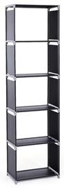 Songmics Storage Shelves Black 50x30x180cm