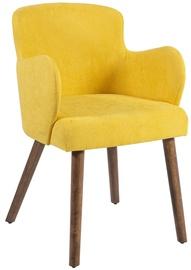 Atzveltnes krēsls Home4you Eleanor 20782, dzeltena, 50x76x59 cm