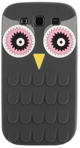 Mocco 3D Owl Back Case For Samsung Galaxy A3 A310 Black