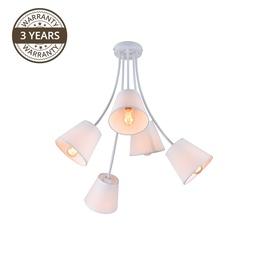 Gaismeklis Domoletti Karina MX53040D-5 Ceiling Lamp 5x40W E27 White