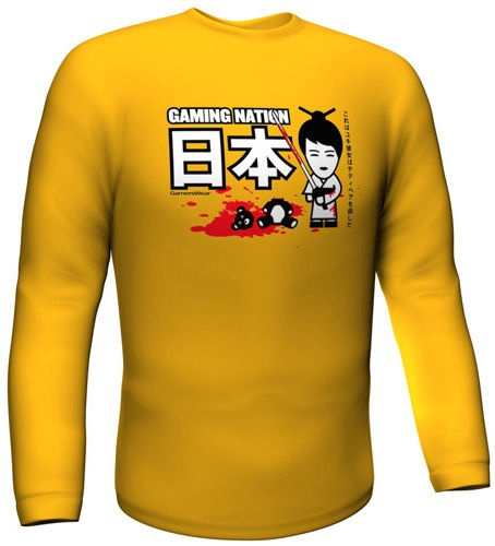 GamersWear Gaming Nation Longsleeve Yellow XL