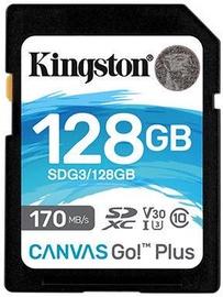 Atmiņas karte Kingston Canvas Go! Plus 128GB SDXC UHS-I Class 10