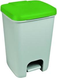 Мусорное ведро Curver Essentials, зеленый/серый, 20 л