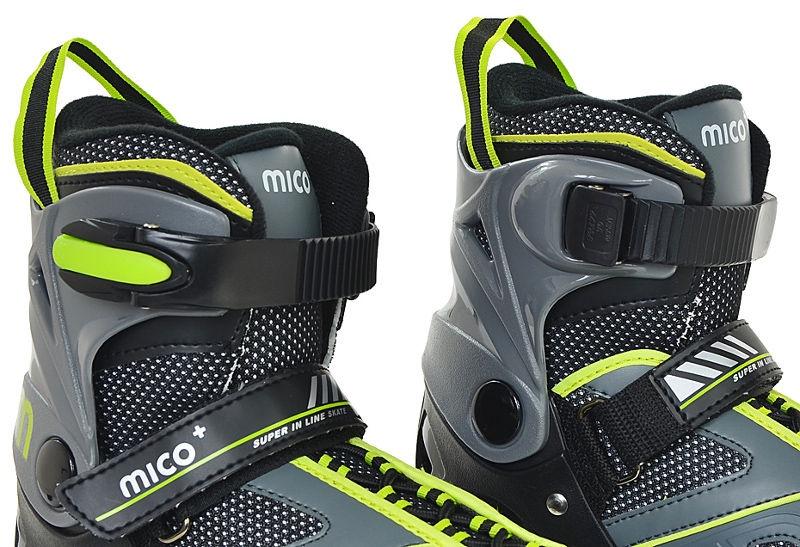 Ролики Mico Plus Flash Boy Grey/Green, 40-43