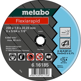 Metabo Flexiarapid 125x1.6x22.23mm Inox TF 41