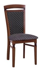 Ēdamistabas krēsls Black Red White Bawaria Black/Walnut
