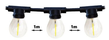 Kobi Mimosa LED Light Bulb Chain 20XE27 20m Black