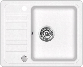 Aqusanita SQ102-710AW Kitchen Sink White 575x460mm