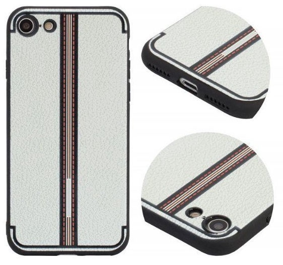 Mocco Trendy Grid And Stripes Pattern 3 Back Case For Apple iPhone X White