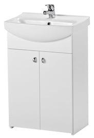 Cersanit Bathroom Furniture Set With Washbasin And Mixer White