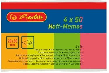 Клеящиеся листки для записей Herlitz Page Marker Flags Neon 00790642