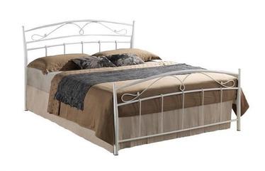 Кровать Signal Meble Siena White, 208x126 см, с решеткой