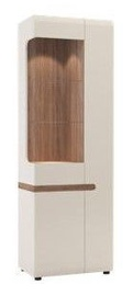 Meble Wojcik Linate 01L Display Case White/Truffle Oak