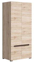 Гардероб Black Red White Elpasso San Remo Oak, 90x56x200 см
