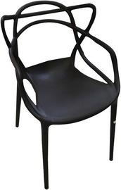 Ēdamistabas krēsls Verners Bordo Black, 560x830x525 mm