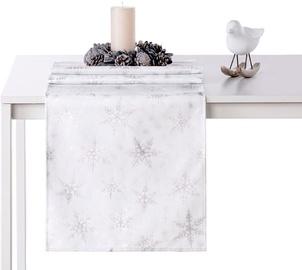 AmeliaHome White Christmas AH/HMD Tablecloth Silver 40x140cm