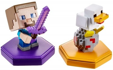 Фигурка Minecraft Earth 2-Pack Attacking Steve and Spawning Chicken Boost Minifigures