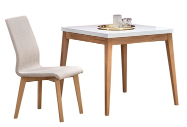 Pusdienu galds Halmar Trump, balta/ozola, 800x800x780mm