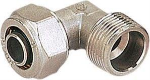"Система трубопровода GTN PEX Pipe Elbow with External Thread Nickel 26mm 3/4"""