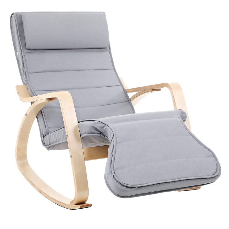 Кресло Songmics, серый, 67x50x91 см