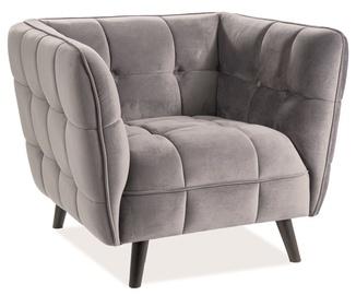 Atzveltnes krēsls Signal Meble Castello Velvet 1 Gray, 92x85x78 cm