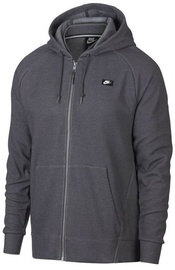 Nike Mens Full Zip Optic Hoodie 928475 021 Grey L
