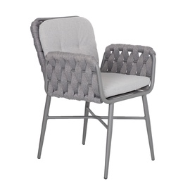 Home4you Ascona Garden Chair Grey