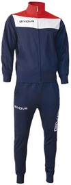 Спортивный костюм Givova Campo Tracksuit Blue/Red 2XS