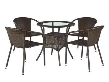 Садовый стол Halmar Midas, коричневый, 74 x 74 x 74 см