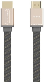 Allocacoc HDMI Cable 1.5m Gold/Gray